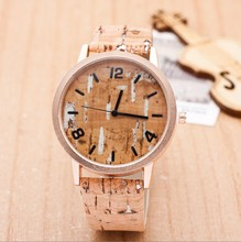 Men need Gift Fashion Natural imitate Wooden Watches With Leather Lovers Luxury Wood Watches