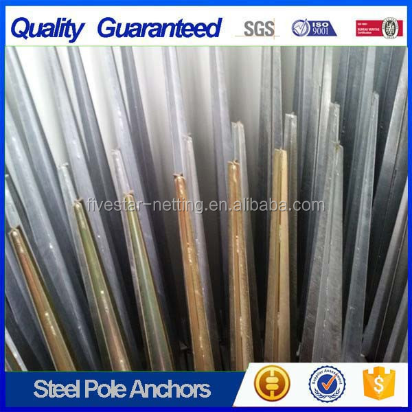 china pole anchor concrete , ground metal spike pole anchor with low price