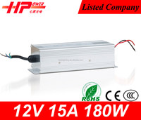 China famous Guangzhou 13 years factory CE RoHs approved rainproof series 12v 15 ampere 180w ac voltage regulator circuit
