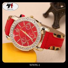 Ladies correa de cuero reloj de pulsera fotos de chicas moda relojes