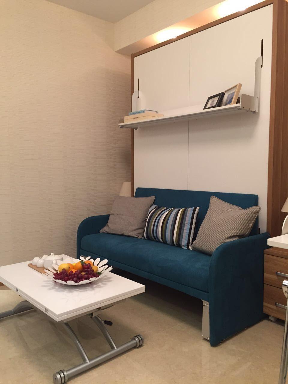 Moderne meubels laatste dubbele muur bed ontwerp vouwen muur bed ...