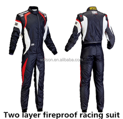 Racing Suit / karting suit FIA Rated two Layer One Piece Flame Retardant