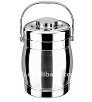 Bubble through stainless steel vacuum cabas/Lunch Box