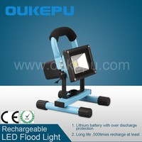 IP65 Rechargeable 10W LED Flood Light Movable Lamp Outdoor Working Light Waterproof 2 Hours Running