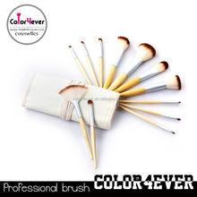 Manufacturer China Eco-friendly bamboo handle 12pcs makeup tool kit bling crystal makeup brush