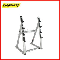 Four pay barbells rack fitness exercise equipment