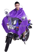 rubber adult riding rain poncho for motorcycle