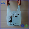 With heat-sealing bottom for great leakproof shopping plastic t-shirt bag