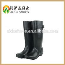 2015 para mujer con hebillas y trenza botas de lluvia de diseño