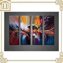 Handmade Modern Group Abstract geometry Oil painting on canvas