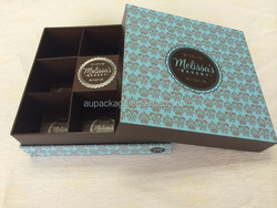 cheap small paper chocolate box with surface finish decoration