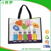 2016 China oem design reusable cute eco foldable pp woven shopping bag