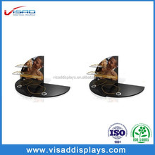 Customized poster table top jewelry store display cases