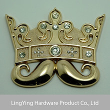 Hot sales crown style metal accessory for clothes,bags and others