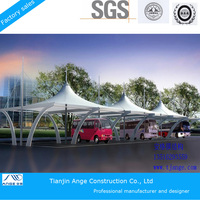 PVC fabric roof membrane structure