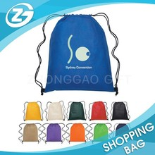 Foldable Travel Sports Backpack Waterproof Custom Nylon Polyester Drawstring Shopping Tote Bag