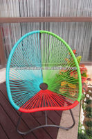 New design!! PE synthetic plastic rattan wrought iron oval garden chair / rattan egg chair