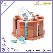 wooden casino gambling product poker chips rack holder set in stock