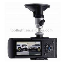 2.7 Inch LCD Wide Angle Dual Cameras Car DVR G-Sensor Car Black Box X3000 With GPS Logger