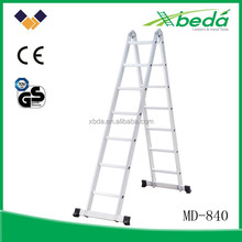 2-section multi-purpose easy folding aluminum motorcycle ladder (MD-840-7)