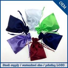 Wholesale Drawstring Customized Logo Gift Satin Hair Bag
