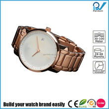 Build your watch brand full steel wristwatch water resistant 30-50 meters rosegold stainless steel lady fashion watch mvmt style