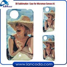 Lancoda 3d Sublimation Plastic Cell Phone Case for Micromax Canvas A1