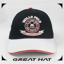 Worldwide Custom Sandwich Black And White Baseball Caps