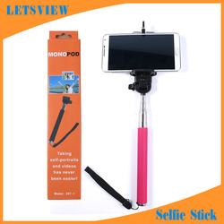 LETSVIEW Best Selling 2015 Extendable Handheld Selfie Stick Monopod Wireless Bluetooth Remote Control Mobile Phone Accessories