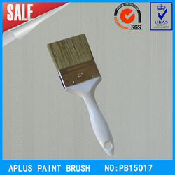 pure bristle hollow plastic handle paint brushes for wall/gate/door