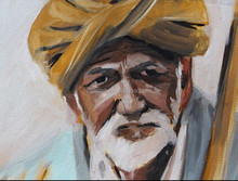 Customize Available Wholesale Price High Quality Old Man Oil Painting