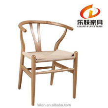 Solid Ash Wood Frame Stacking Side Chair with Upholstered Seat and Back A01