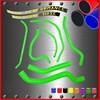 Green motorcycle silicone radiator hose kit for YAMAHA 06 07 08 09 10 FZ1 FZ-1