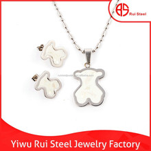 high end stylish stainless steel one dollar wholesale jewelry set