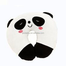 2015 cartoon panda plush stuffed neck U cushion
