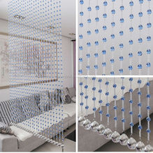 2015 Fashion Custom Home Decoration Crystal Beaded Door Curtain