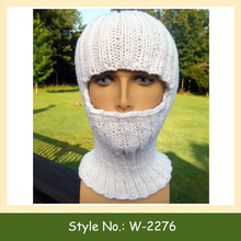 W-2276 Thermal Knit Balaclava Hat Ski Hat Cycling Knitted Balaclava Hat Face Mask Cover