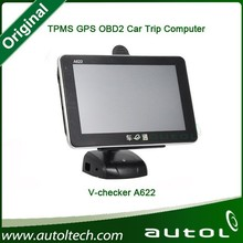 Multi functional auto diagnostic tool for all cars OBD with GPS Vchecker A622