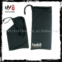 Hot selling custom logo microfiber glasses pouch,suede printed jewelry pouches,white pouch drawstring logo
