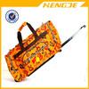 new designer canvas durable trolley travel duffel bag