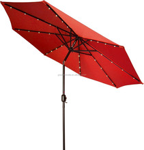 new arrival outdoor Patio heavy duty lighting LED Umbrella with Solar Powered LED Lights
