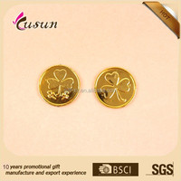 Custom gold plastic coins
