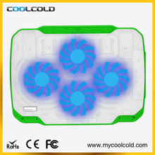 Four cooling fans laptop cooler pad, laptop stand with cooling pads