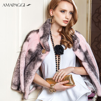 High-end short cross natural mink fur Jacket women winter mink outwear