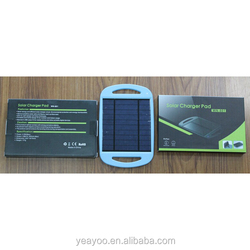2.5W 5V/500mA Universal Sun Power Panel Solar Charger Pad with Holder for Mobile phones / MP3 / Digital Camera / GPS