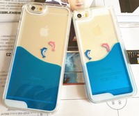 For Apple iphone 6 dolphin water case for iPhone6 porpoise liquid cover