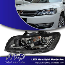 AKD Car Styling VW Passat US Version LED Headlights Passat LED Head Lamp Projector Bi Xenon Hid H7