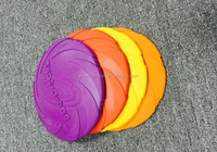 new design rubber pet dog toy for dog chew rubber dog frisbee