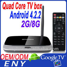 Android 4.2.2 OS 2GB RAM 8GB ROM Cortex A9 rk3188 quad core android tv box 1.8ghz