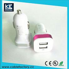 Vehicle female cigarette lighter 180w 12V/24V socket adapter with Dual usb car charger 5V 3.1A for cell phone